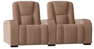 Palliser Furniture Neville Manual Reclining Curved Home Theater Loveseat (Row of 2) Palliser Furniture Body Fabric: Ambient Acorn, Reclining Type: Manual