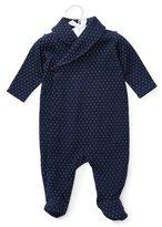 Ralph Lauren Knit Jacquard Footie Pajamas, Navy/White, Size 3-9 Months