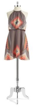 Jessica Simpson Geo Print Pop Over Dress