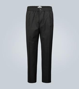 AMI Paris Elasticated-waist cropped pants