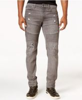 Ring of Fire Men's Slim-Fit Rexford Asphalt Wash Ripped Moto Jeans, Only at Macy's
