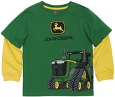 John Deere Boys 4-7x Tractor Mock-Layer Wrap-Around Graphic Tee