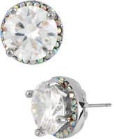 Betsey Johnson Crystal Round Stud Earring
