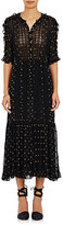 Ulla Johnson Women's Adalie Embroidered Georgette Maxi Dress-Black