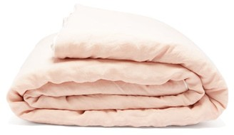 Once Milano - Double-sided Crushed-linen Quilt - Light Pink