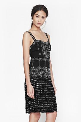 French Connection Diamond Fringe Beaded Dress
