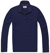 Tommy Hilfiger Tommy Jeans Regular Long Sleeve Polo Shirt, Black Iris