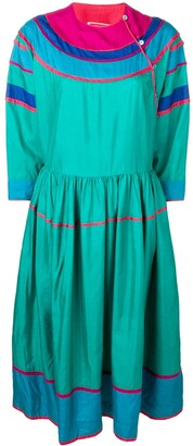 Kenzo Pre Owned Colour Block Silk Dress