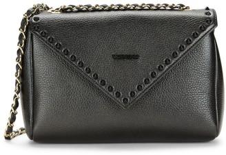 Mario Valentino Felicity Preciosa Rockstud Pebbled-Leather Shoulder Bag