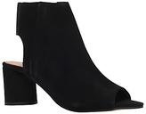 KG by Kurt Geiger Raw Peep Toe Ankle Boots, Black