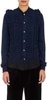 Comme des Garcons Women's Ruffle-Front Cardigan-NAVY