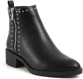 Catherine Malandrino Naroon Pointed Toe Vegan Leather Bootie