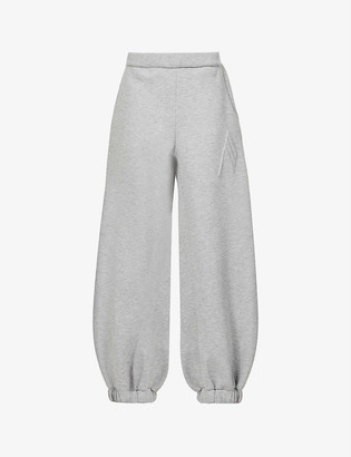 ATTICO Carter relaxed-fit high-rise cotton-blend jogging bottoms