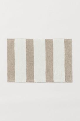 H&M Striped Bath Mat - Beige