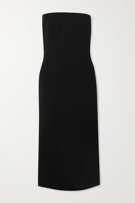 Givenchy Strapless Crepe Midi Dress - Black