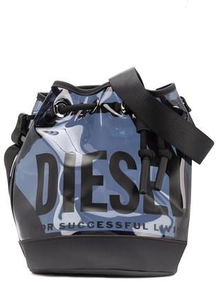 Diesel Logo Print Bucket Bag