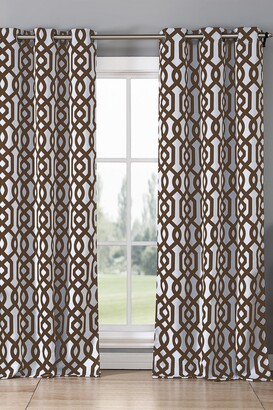 Duck River Textile Ashmont Printed Blackout Grommet Panel Curtains - Set of 2 - Chocolate
