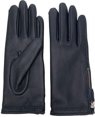 Agnelle Zipped Gloves