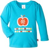 Zutano Apples Screen L/S Fitted Tee - Pool-2T