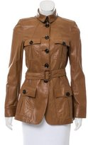 Burberry Leather Belted Jacket
