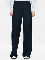 Calvin Klein Platinum Wool Silk Wide Pants