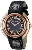 Escada Women's IWW-E2460146 Ivory Analog Display Swiss Quartz Black Watch