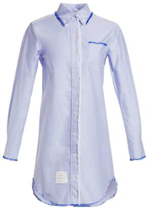 Thom Browne Classic Long-Sleeve Button-Down Shirtdress