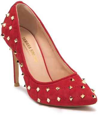 Tamara Simone Studded Pointed Toe Pump