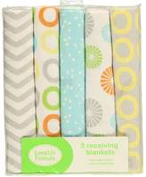 "Luvable Friends Color Rings"" 5-Pack Receiving Blankets - lime"