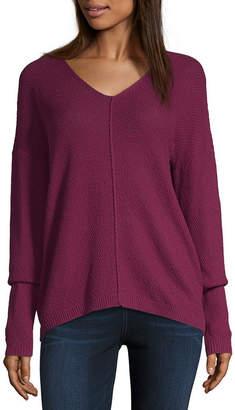 Artesia Womens V Neck Long Sleeve Pullover Sweater