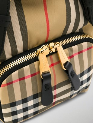 Burberry Small Check-Print Backpack