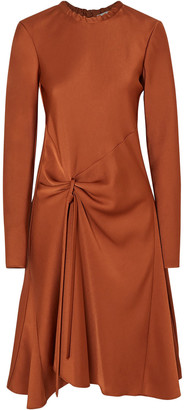 Chloé Draped Satin-crepe Midi Dress