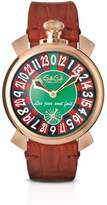 GaGa MILANO Men's Las Vegas Roulette 48mm Brown Mechanical Watch 5011.lv.01s