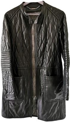 Barbara Bui Black Leather Coat for Women