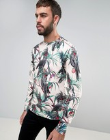 Paul Smith Crew Sweatshirt Cockatoo Print in Pink