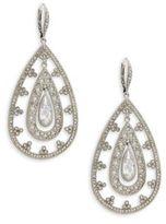 Adriana Orsini Crystal Medic Trefoil Earrings