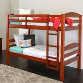 Walker Edison Solid Wood Cherry Twin/ Twin Bunk Bed