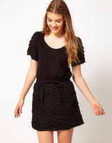 Manoush Short Sleeve Dress With Contrast Detail