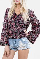 En Creme Isabella Floral Top