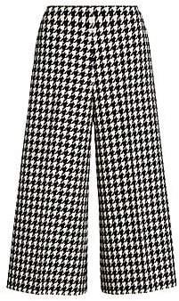 Gucci Women's Houndstooth Wide-Leg Wool-Blend Culottes