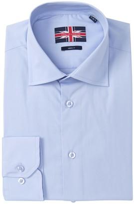 Soul Of London Solid Modern Fit Dress Shirt