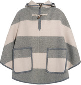 MiH Jeans Honor Hooded Striped Wool-blend Twill Cape - Gray