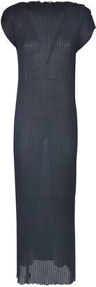 Jil Sander Stripe Laced Long Dress