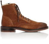 Barneys New York MEN'S OILED SUEDE LACE-UP BOOTS
