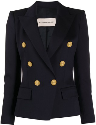 Alexandre Vauthier Engraved Button Double-Breasted Blazer