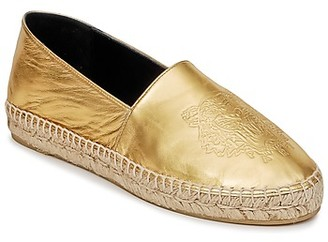 Kenzo TIGER METALIC SYNTHETIC LEATHER women's Espadrilles / Casual Shoes in Gold