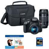Canon EOS Rebel T6 18MP Wi-Fi Digital SLR Camera with EF-S 18-55mm and EF 75-300mm Lenses, 16GB Memory Card and Software