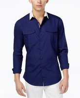 INC International Concepts Men's Contrast-Collar Shirt, Created for Macy's