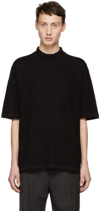 Jil Sander Black Mock Neck T-Shirt