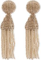 Oscar de la Renta Classic tassel clip-on earrings